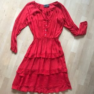 Stunning Red Anthropologie Dress